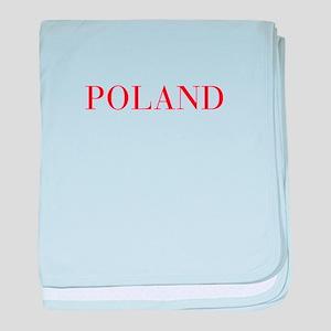Poland-Bau red 400 baby blanket