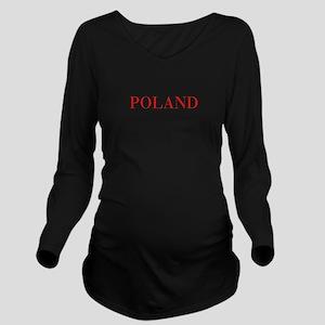 Poland-Bau red 400 Long Sleeve Maternity T-Shirt