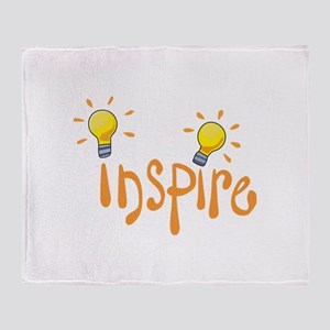 LIGHTBULB INSPIRE Throw Blanket