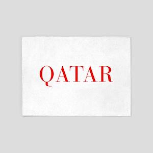 Qatar-Bau red 400 5'x7'Area Rug
