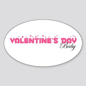 Valentine's Day Baby Oval Sticker
