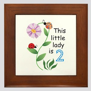 THIS LITTLE LADY IS TWO Framed Tile