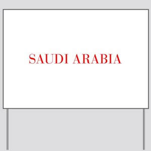 Saudi Arabia-Bau red 400 Yard Sign