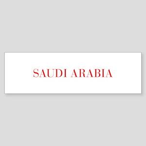 Saudi Arabia-Bau red 400 Bumper Sticker
