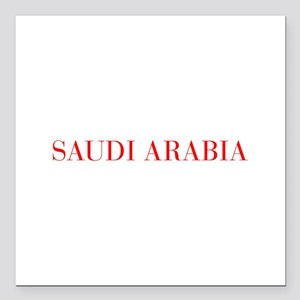 "Saudi Arabia-Bau red 400 Square Car Magnet 3"" x 3"""