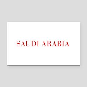 Saudi Arabia-Bau red 400 Rectangle Car Magnet