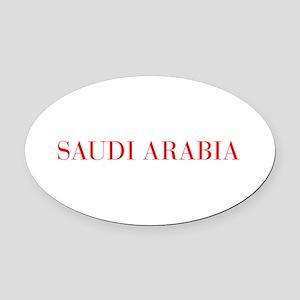 Saudi Arabia-Bau red 400 Oval Car Magnet