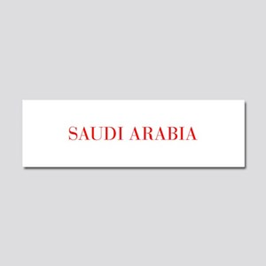Saudi Arabia-Bau red 400 Car Magnet 10 x 3