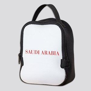 Saudi Arabia-Bau red 400 Neoprene Lunch Bag