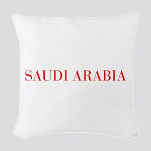Saudi Arabia-Bau red 400 Woven Throw Pillow