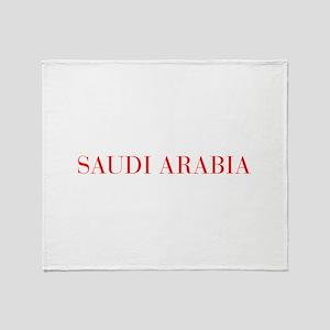 Saudi Arabia-Bau red 400 Throw Blanket
