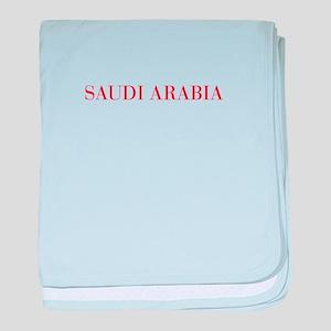 Saudi Arabia-Bau red 400 baby blanket