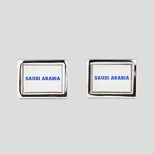 Saudi Arabia-Var blue 400 Rectangular Cufflinks