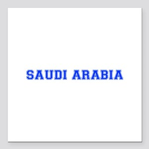 "Saudi Arabia-Var blue 400 Square Car Magnet 3"" x 3"