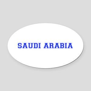 Saudi Arabia-Var blue 400 Oval Car Magnet
