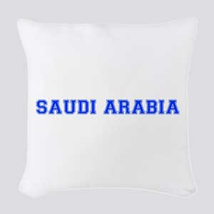 Saudi Arabia-Var blue 400 Woven Throw Pillow