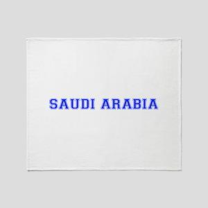 Saudi Arabia-Var blue 400 Throw Blanket