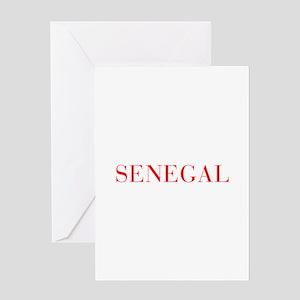 Senegal-Bau red 400 Greeting Cards
