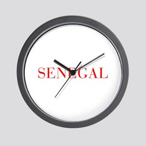 Senegal-Bau red 400 Wall Clock