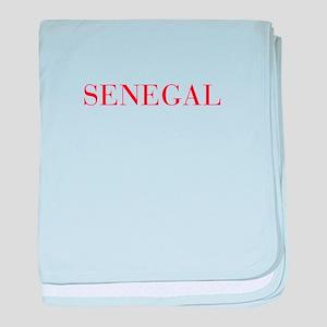 Senegal-Bau red 400 baby blanket