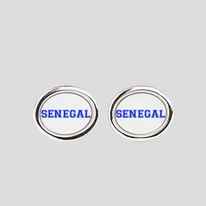 Senegal-Var blue 400 Oval Cufflinks