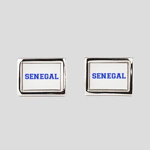 Senegal-Var blue 400 Rectangular Cufflinks
