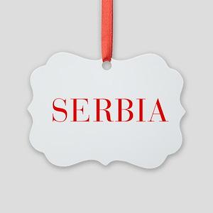 Serbia-Bau red 400 Ornament