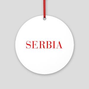Serbia-Bau red 400 Ornament (Round)