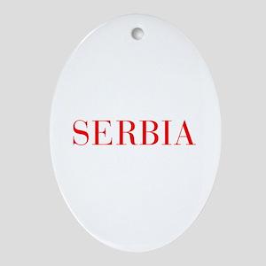 Serbia-Bau red 400 Ornament (Oval)