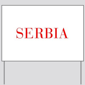 Serbia-Bau red 400 Yard Sign