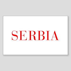 Serbia-Bau red 400 Sticker