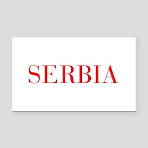 Serbia-Bau red 400 Rectangle Car Magnet