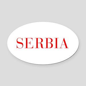 Serbia-Bau red 400 Oval Car Magnet