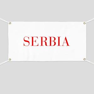 Serbia-Bau red 400 Banner