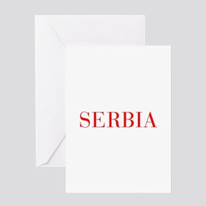 Serbia-Bau red 400 Greeting Cards