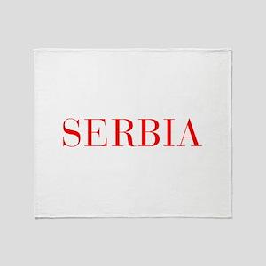 Serbia-Bau red 400 Throw Blanket
