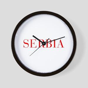 Serbia-Bau red 400 Wall Clock