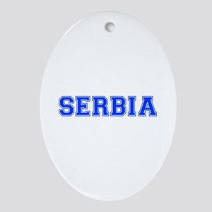 Serbia-Var blue 400 Ornament (Oval)