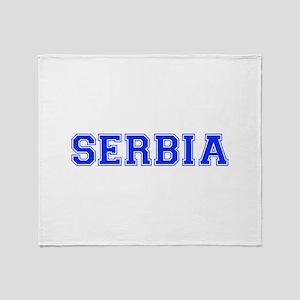 Serbia-Var blue 400 Throw Blanket