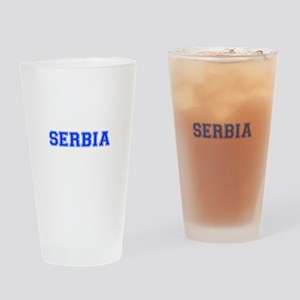 Serbia-Var blue 400 Drinking Glass