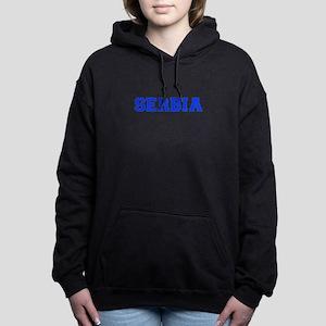 Serbia-Var blue 400 Women's Hooded Sweatshirt
