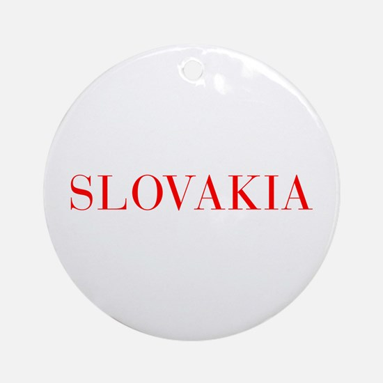 Slovakia-Bau red 400 Ornament (Round)