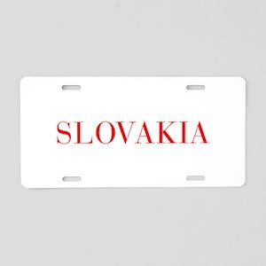 Slovakia-Bau red 400 Aluminum License Plate