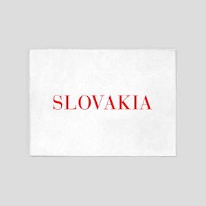 Slovakia-Bau red 400 5'x7'Area Rug