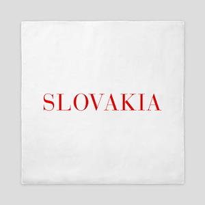 Slovakia-Bau red 400 Queen Duvet
