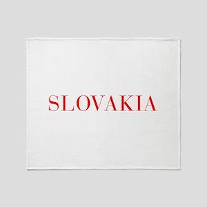 Slovakia-Bau red 400 Throw Blanket