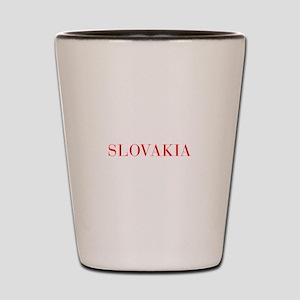 Slovakia-Bau red 400 Shot Glass