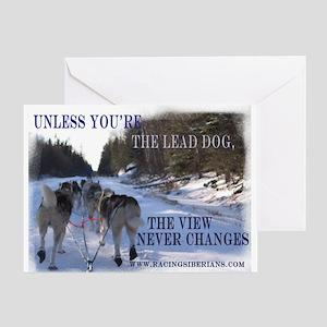 Lead Dog Greeting Card
