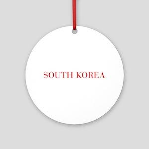 South Korea-Bau red 400 Ornament (Round)