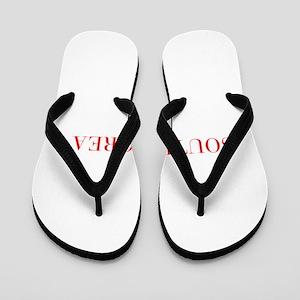 South Korea-Bau red 400 Flip Flops